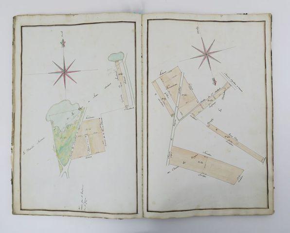 Manuscrit. Plan géométrique de la ferme de la Grande et Petite Ve...