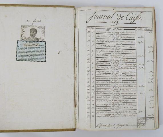 Manuscrit. Livre de compte d'un régisseur de domaine en Normandie...