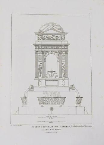 NORMAND & MOISY (A.). Fontaines de Paris. Paris, Bance, sd [1855]...