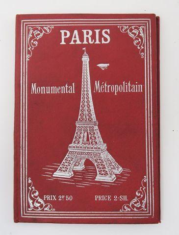 [Plan de Paris]. Paris Monumental Métropolitain. sl, sn, sd. Gran...