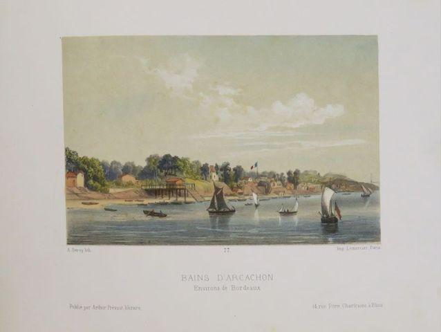 Aquitaine. Keepsake illustré du chemin de fer de Paris à Bordeaux...