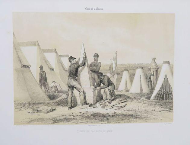 Aquitaine - MASSÉ (Emmanuel-Auguste). Camp de la Gironde. 1845. D...