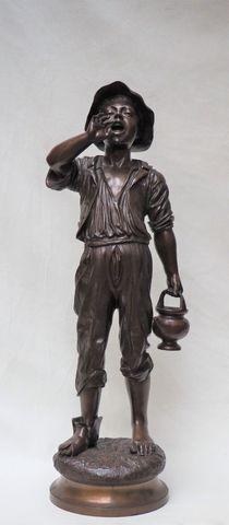 Paul DUBOIS (1827-1905) à Paris Garçon à la cruche Bronze signé H...