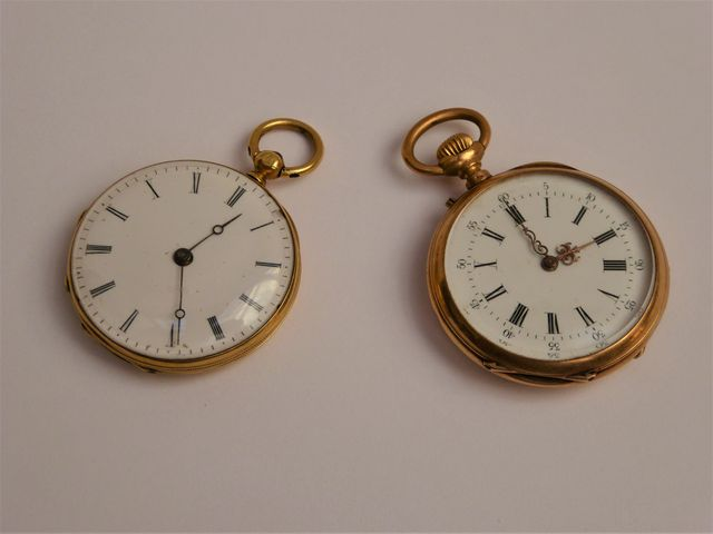 Lot de deux montres gousset or jaune Pds brut 52 grs