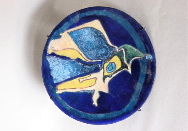 Georges MAGADOUX (1909-1983)  Composition Coupelle émaillée sur c...
