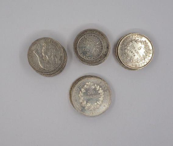 Lot de pièces argent Pds 598 grs