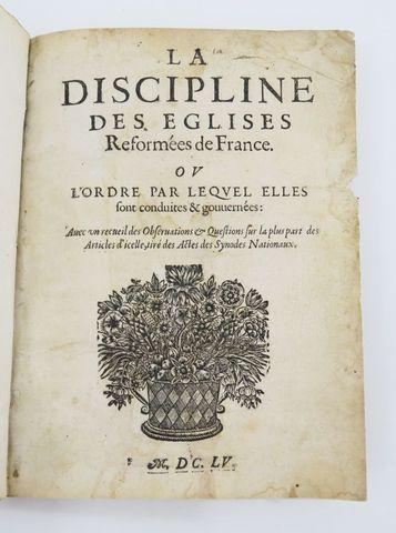 [Impression de Saumur] - [HUISSEAU (Isaac d')]. La Discipline des...