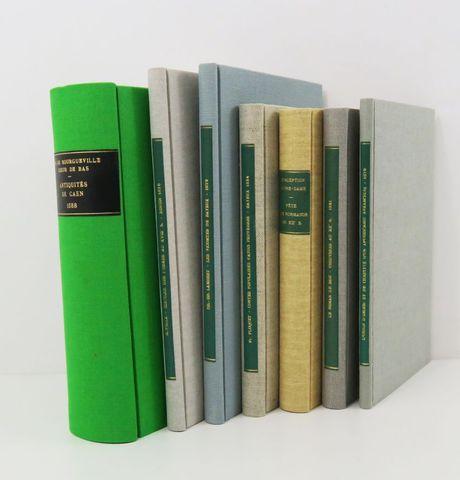 Normandie. Bon ensemble de 7 volumes in-8 en cartonnage toilé mod...