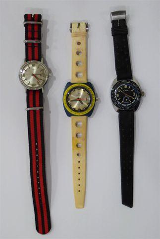 Lot de 3 montres comprenant une montre bracelet homme KIPLE, une ...
