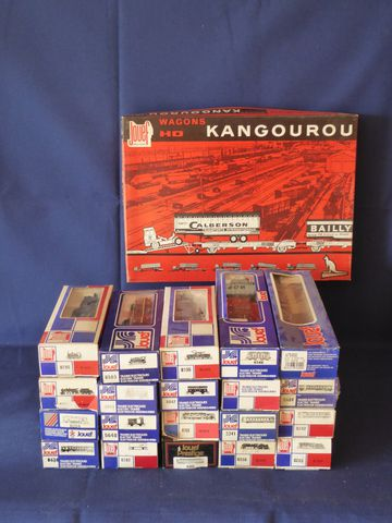 JOUEF Echelle HO Lot comprenant : Coffret Wagons Kangourou Réf. 6...