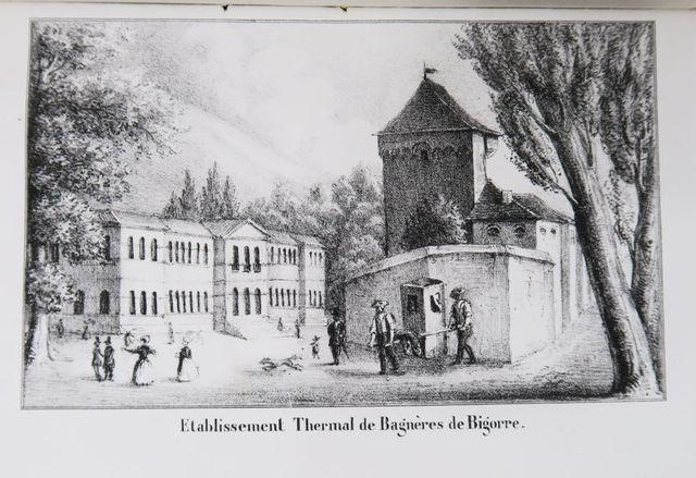 Pyrénées - LEMONNIER (Louis-Céran). Bagnères-de-Bigorre sous le r...