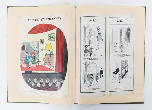 Caricatures. Album de recueil de 62 pp. de caricatures de Jean BE...