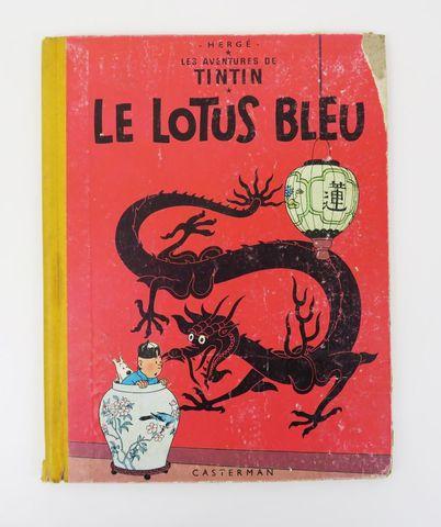 HERGÉ (Georges Rémi, dit). Le Lotus Bleu. Paris, Casterman, [1955...