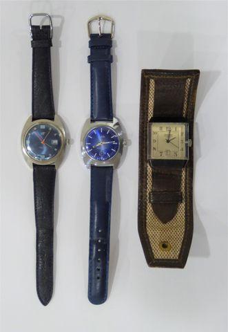 Lot de 3 montres comprenant une montre bracelet homme WITT, une m...