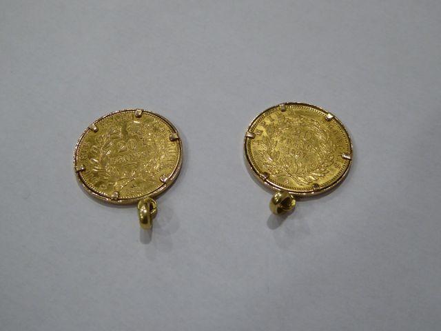 Pièce 100 francs or 1865, Atelier A Poids : 33 grs