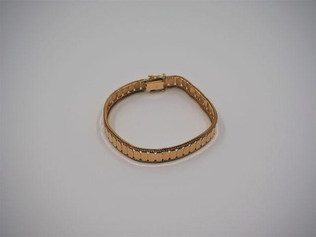 Bracelet or jaune Pds 18 grs