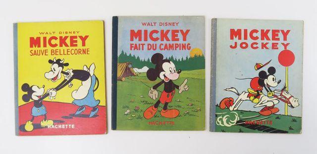 DISNEY (Walt). 3 albums de Mickey: Mickey fait du camping [1949]...