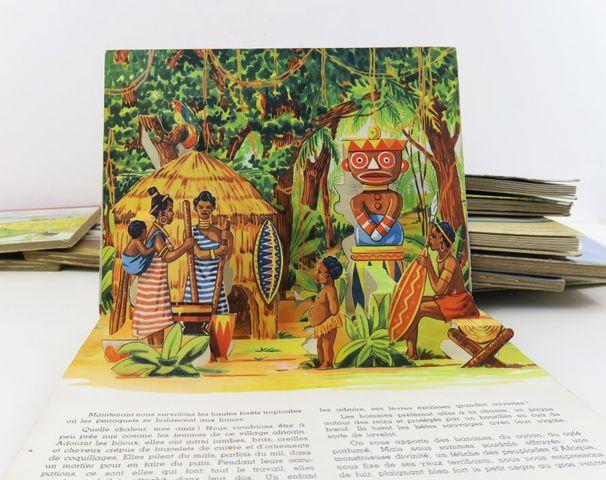 Livres pop-up. Ensemble de 12 albums cartonnage polychrome éd., i...