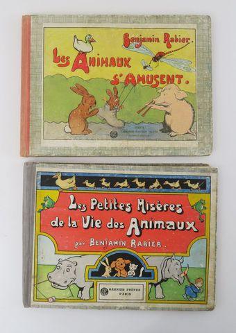 RABIER (Benjamin). Les Animaux s'amusent. Paris, Garnier frères, ...