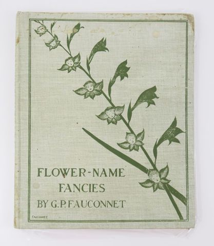 FAUCONNET (Guy-Pierre). Flower-name fancies. English rhymes by Ha...