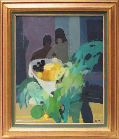 Alfred DEFOSSEZ (1932)  La Coupe Huile sur toile signée en bas à ...