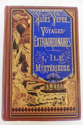 VERNE (Jules). L'île mystérieuse. Paris, Hetzel, sd (1881). Carto...