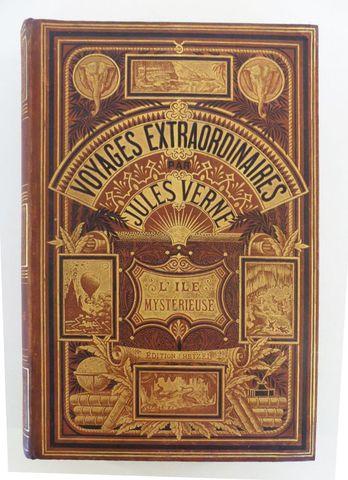 VERNE (Jules). L'île mystérieuse. Paris, Hetzel, sd (1876). Carto...