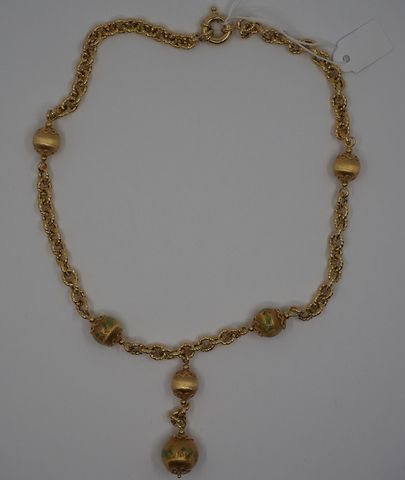 Collier boules or jaune Pds 25 grs