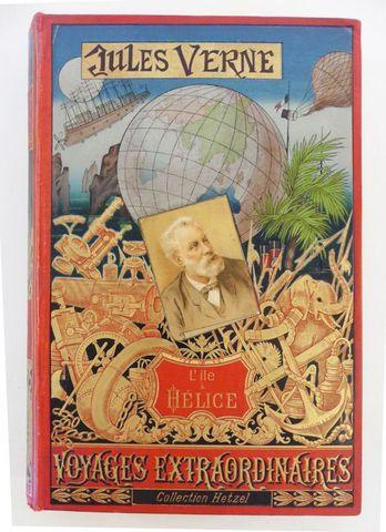 VERNE (Jules). L'île à hélice Paris, Hetzel, sd (1895 catalogue D...