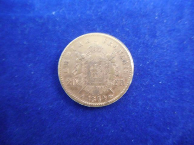 Pièce de vingt francs or 6,4g. (Napoléon III - 1864)
