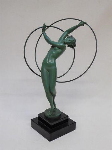 FAYRAL dit Pierre Le FAGUAYS (1892-1962) Danseuse aux cerceaux  S...