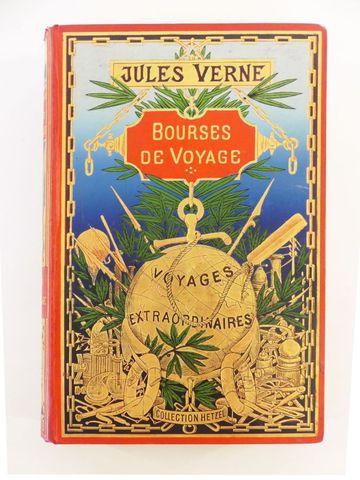 VERNE (Jules). Bourses de voyage. Paris, Hetzel, sd (1903). Carto...