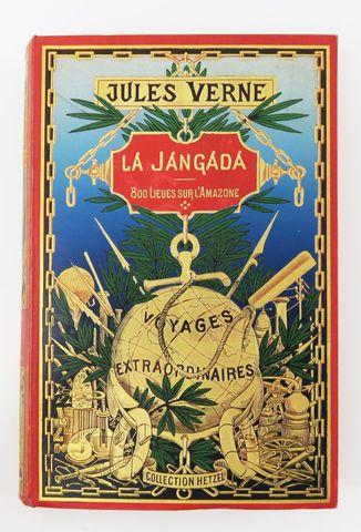 VERNE (Jules). La Jangada. Paris, Hetzel, sd (1903-1904). Cartonn...