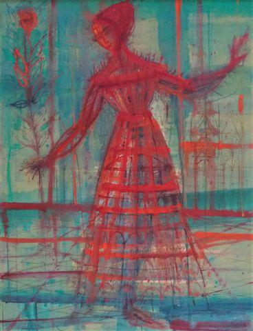 Jean CARZOU (1907-2000) La Paysanne 1962 Huile sur toile signée e...
