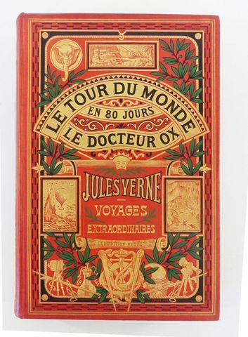 VERNE (Jules). Le Tour du monde en 80 jours & Le docteur Ox. Pari...