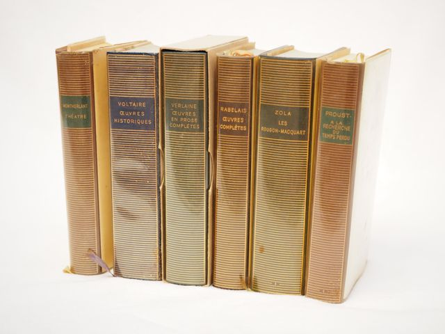 LA PLEIADE Lot de 6 volumes comprenant : - MONTHERLANT Théatre - ...