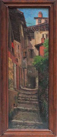 Paul Laurent COURTOT (1856-1925) Limoges Quartier de l'Abbessaill...