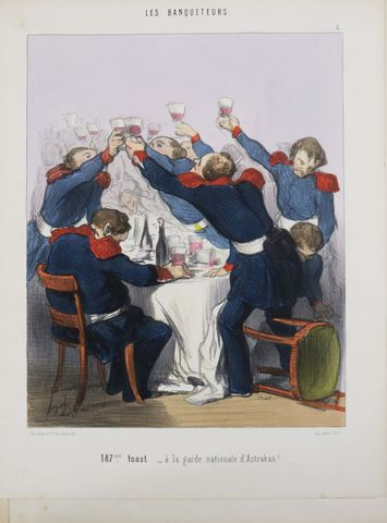 DAUMIER (Honoré). Album de 41 planches finement coloriées à l'épo...