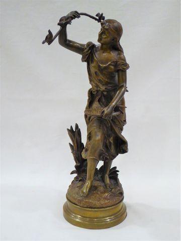 Hyppolite MOREAU (1832-1927) La Charmeuse d'oiseaux Epreuve en br...