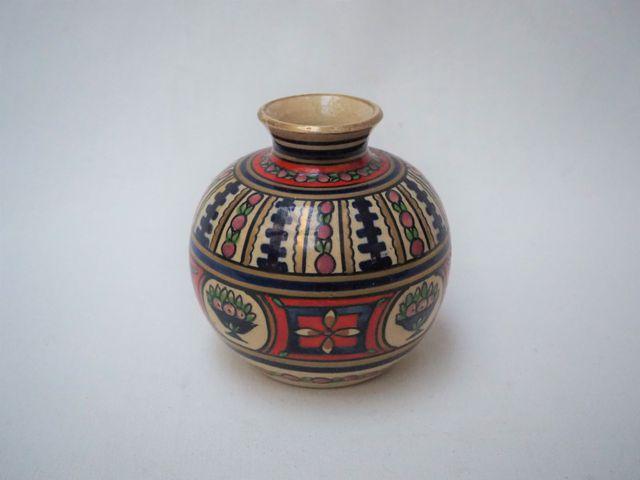 Alfred RENOLEAU (1854-1930) Vase boule en faïence émaillée à déco...