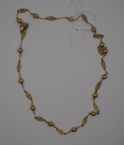 Collier or jaune Pds 10 grs