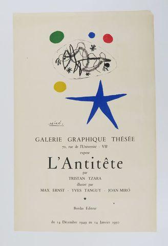 MIRÓ (Joan). Affiche pour L'Antitête. Lithographie originale en c...