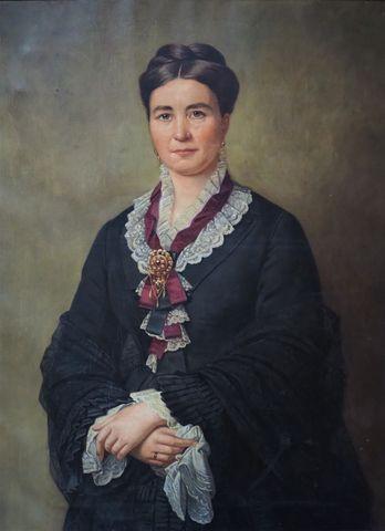 Ecole FRANCAISE du XIXème siècle Portrait d'élégante Huile sur To...