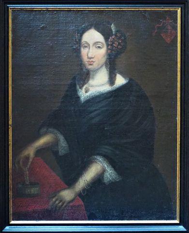 Ecole HOLLANDAISE du XIXème siècle Portrait d'élégante Huile sur ...