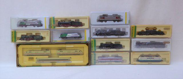 MINITRIX écart. N, 1:160 Lot de locomotives et wagons comprenant ...