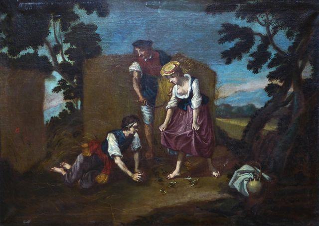 Ecole FRANCAISE Vers 1750, Suiveur de François BOUCHER Scène de m...
