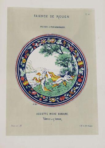RIS-PAQUOT (Oscar Edmond). Histoire des faïences de Rouen pour se...