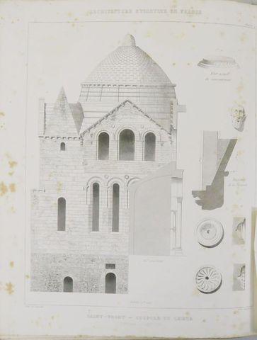 VERNEILH (Félix de). L'Architecture byzantine en France. Paris, D...