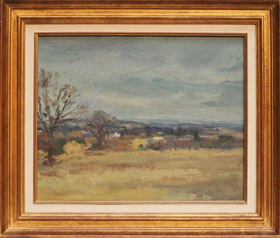 Paul SURTEL (1893-1985) Paysage  Huile sur panneau signée en bas ...