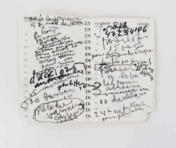 GAINSBOURG (Serge). Agenda Hermès. 1er trimestre 1987 (31 décembr...